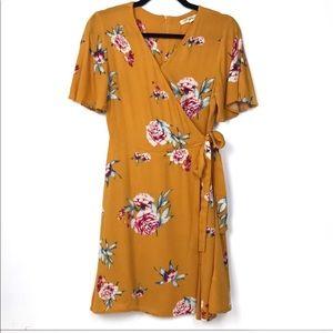 Rewind Floral Mustard Dress Sz S